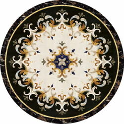 24 Marble Coffee Table Top Inlaid Arts Pietra Dura Decor Gifts