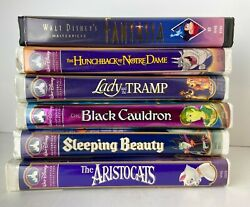 Walt Disney Masterpiece Collection Vhs Lot Of 6 Movies In Clamshell Covers