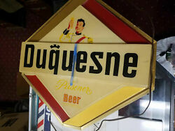 Dusquene Beer Light Up Sign Breweriana Antique Brewery Bar Tavern 60and039s Antique