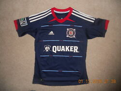 Chicago Fire Mls Adidas Soccer Jersey Climacool Away Style 2012-14 Youth Medium