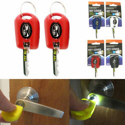 2 Key Cover LED Bright Light Keychain Torch Flashlight Keyring Case Cap New ! $7.51