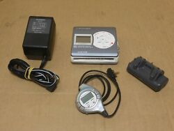 Pioneer Portable Minidisc Player Recorder Pmd R3 L W Accessories Rare