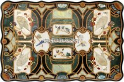 Rare Collectible Marble Mosaic Italian Inlaid Dining Table Outdoor Decor H3886