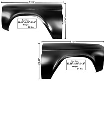 Ford Bronco Front Fender Set Left And Right 1966-1977