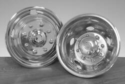 Dodge Ram 3500 17 Inch Stainless Steel Hubcaps Simulators 2003 - 2019 Snap On