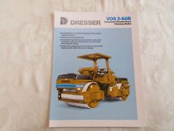 1989 Dresser Vos2-66b Articulated Double Drum Vibratory Roller Brochure 4 Pages