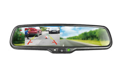 Boyo Vtm43mw - Replacement Rear-view Mirror With 4.3 Tft-lcd Backup Camera Moni