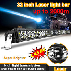 Osram Chip 32 Laser Led Light Bar Dual Row Combo Beam For 4wd Offroad Pickup