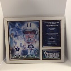 Troy Aikman 2006 Dallas Cowboys Matted 14x11 Photo-man Cave Art-wall Plaque