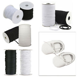 Round Flat Elastic Bungee Rope Shock String Stretchable Cord Dress Making Crafts