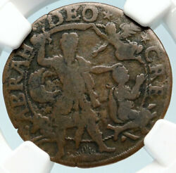 1605 France King Henry Iv Binding Of Issac By Abraham Bible Old Ngc Medal I83699