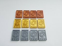 Imperial Credit Set Gold Silver And Bronze Star Wars Sabacc Credits $29.49