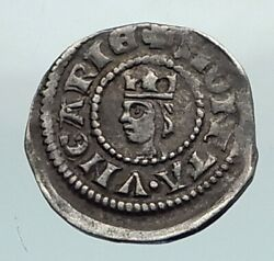 1270 Hungary Medieval Silver Coin Of Stephen V With Jewish Hebrew Letter I80417