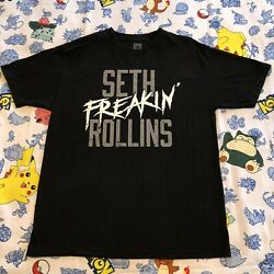 Seth Freakin#x27; Rollins T Shirt WWE L The Architect Black Slayer Beast King Shield