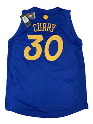 New Stephen Curry Large Golden State Warrior Xmas Adidas Swingman Jersey Nwt