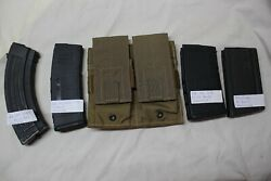 10 Us Military Issue Usmc Rifle Double Magazine Pouch Coyote Brown 7.62x51 / 308
