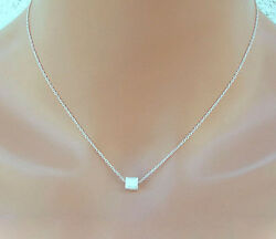 Uandc Sundance Brushed Solid Silver Cube Box On .925 Sterling Chain Necklace