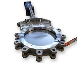 Used 12 A-c Valve Inc. Knife Gate With Actuator Stainless Steel