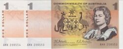 1968 1 Note Consecutive Pair Coombs/randall R72 Uncirculated