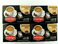 48 Indulgio English Toffee Cappuccino K-cups 4 Boxes Of 12 Pods Coffee Keurig