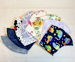 New Stylish Reusable Washable Cotton Face Mask Double Layered with Filter Pocket $9.99