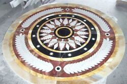 Antique Marble Custom Table Marquetry Inlay Fine Arts Decorate Living Room H5304