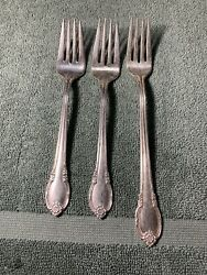 3-1847 Rogers Bros Silverplate Remembrance Forks