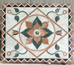 4and039x2and039 Marvelous Marble Dining Hallway Table Top Mosaic Inlay Garden Decor H4815a