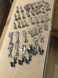 Lead Toy Soldiers Wwi Doughboy Cavalry Lot Rare 46pc Us Antique Painted Set Toys