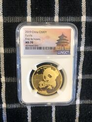2019 China G500y Panda - First Releases Ms 70 Nice Rare Gold One Ounce 1 Oz