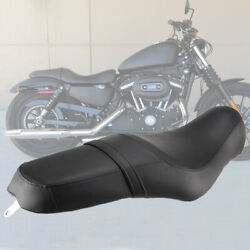 Driver And Rear Passenger Leather Two Up Seat For Harley Iron 883 Xl883n 2010-2016