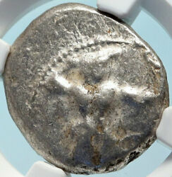 Citium Kition Cyprus Authentic Ancient Silver Greek Coin Hercules Ngc I83837
