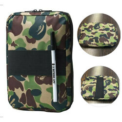 A BATHING APE BAPE Green Camo Handbag Travel Purse Storage Pack Credentials Bag $9.99