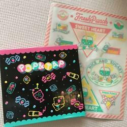 Sanrio Spiral Notebook Memo And Stickers Set Vintage From Japan Free Shipping