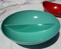 Vintage Mid Century Melmac By Capac And Od Party Bowls Turquoise And Red 1/20