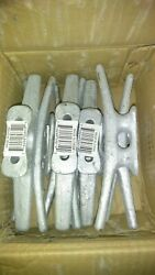 12 8 Inch Galvanized Gray Iron Open Base Cleats For Boats And Docks