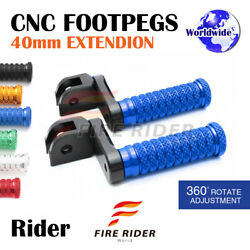 Frw Cnc 6c 40mm Front Footpegs For Yamaha Fzr750 88-96 88 89 90 91 92 93 94 95