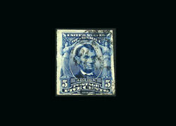 Us Stamp Used, Vf S315 Edge Of The Next Stamp Can Be Seen On The Left Edge, Ass