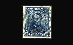 Us Stamp Used, Xf/super B S315 Jumbo Margins With Period Cancel, Very Scarce