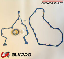 Gear Housing Timing Case And Cover Gasket Oil Seal For 94-02 Dodge Ram 5.9 Cummins