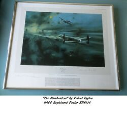 The Dambusters 617 Sqn Raf Guy Gibson Bomber Harris Mick Martin Signed Print Dfc
