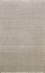 Ikat Moroccan Hand-knotted Oriental Area Rug Modern Home Decor Wool Carpet 5'x8'