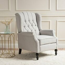 Christopher Knight Home 296110 Elizabeth Tufted Fabric Arm Chair Recliner