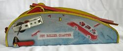 Vintage 1940s Wolverine Jet Roller Coaster Lithograph Tin Windup Toy - No Cars