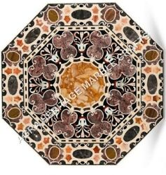 36 Gorgeous Marble Dining Top Table Intregrate Inlay Fine Art Patio Decor H5119