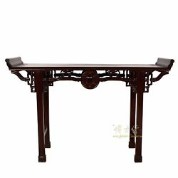 Vintage Chinese Carved Rosewood Altar Table Sofa Table