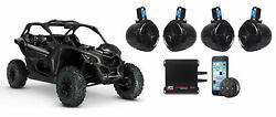 Can-am Maverick 4 8 Tower Speakers+4-channel Amplifier+bluetooth Controller