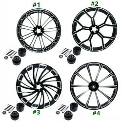 30 Inch Cnc Front Wheel Rim Hub Single Disc Fit For Harley Touring 2008-2021 New