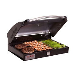 Camp Chef 3 Burner Stove Barbecue Grill Box Cast Iron Grates Seasoned Cooking