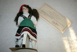 Luisa Representing Italy Danbury Mint Porcelain Doll W/ Certificate And Stand